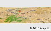 Satellite Panoramic Map of Sevilla
