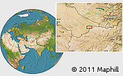 """Satellite Location Map of the area around 37°14'49""""N,64°40'30""""E"""