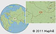 "Savanna Style Location Map of the area around 37°14'49""N,64°40'30""E"