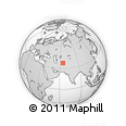 """Outline Map of the Area around 37° 14' 49"""" N, 64° 40' 30"""" E, rectangular outline"""