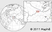 Blank Location Map of Aqīneh