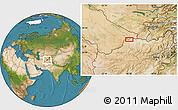 Satellite Location Map of Aqīneh