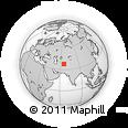 Outline Map of Aqīneh, rectangular outline