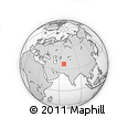 Outline Map of Eslām Panjāh, rectangular outline