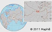 Gray Location Map of Arīgh Bātūr