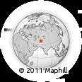 Outline Map of Hairatan, rectangular outline