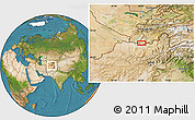 """Satellite Location Map of the area around 37°14'49""""N,68°4'29""""E"""