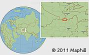 "Savanna Style Location Map of the area around 37°14'49""N,68°4'29""E"