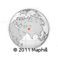 """Outline Map of the Area around 37° 14' 49"""" N, 69° 46' 30"""" E, rectangular outline"""