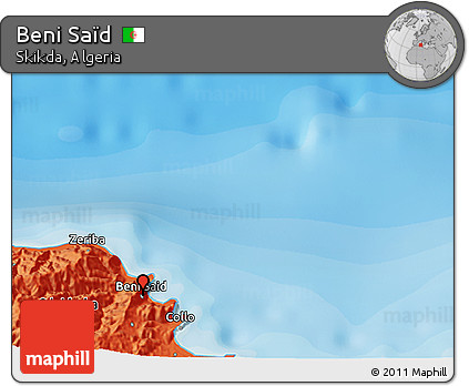 Political 3D Map of Beni Saïd