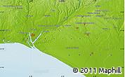 Physical Map of Huelva