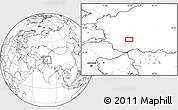 Blank Location Map of Kangkir