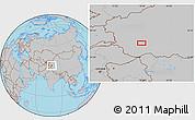 Gray Location Map of Kangkir