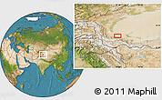 Satellite Location Map of Kangkir