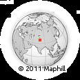 Outline Map of Kangkir, rectangular outline