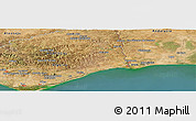 "Satellite Panoramic Map of the area around 37° 14' 49"" N, 7° 34' 30"" W"