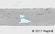 Physical Panoramic Map of Hoit Taria