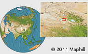 """Satellite Location Map of the area around 37°14'49""""N,97°49'29""""E"""