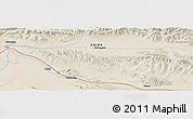 """Shaded Relief Panoramic Map of the area around 37°14'49""""N,97°49'29""""E"""