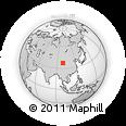 Outline Map of Gaidain'goinba, rectangular outline