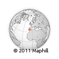 Outline Map of Sagres, rectangular outline