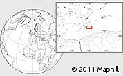 """Blank Location Map of the area around 37°42'7""""N,0°4'30""""E"""