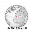 """Outline Map of the Area around 37° 42' 7"""" N, 0° 4' 30"""" E, rectangular outline"""