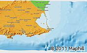 Political 3D Map of Cartagena