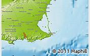 Physical Map of San Pedro del Pinatar