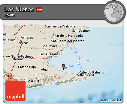 Map Of Javier Spain.Free Shaded Relief Panoramic Map Of Los Nietos