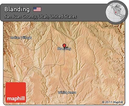 Free Satellite 3d Map Of Blanding