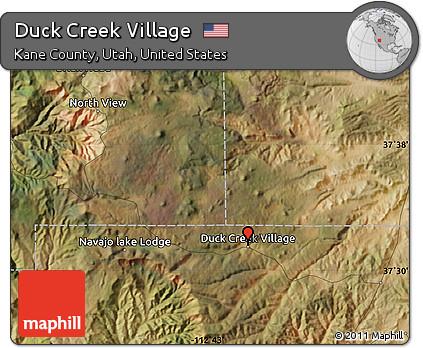 Free Satellite Map Of Duck Creek Village
