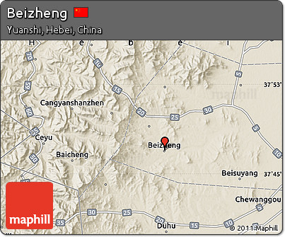 Shaded Relief Map of Beizheng