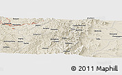 Shaded Relief Panoramic Map of Nanzhangcheng