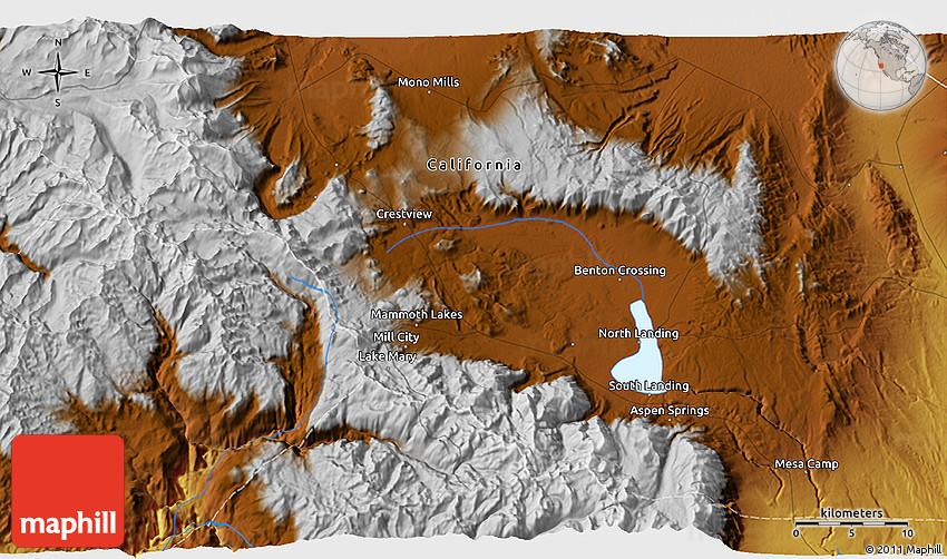 Physical 3D Map of Mammoth Lakes on big pine map, tempe lake map, hope ranch map, lake tahoe map, mono county map, riverbank map, pinon hills map, yosemite national park map, hayfork map, big bear map, mountain ranch map, california map, mt laguna map, fish camp map, june lake map, mammoth mountain map, laguna village map, gavilan hills map, mammoth village map, trinidad state beach map,