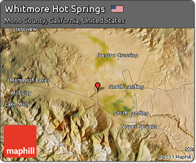Free Satellite Map of Whitmore Hot Springs
