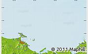 Physical Map of Yantai