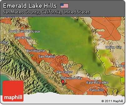 Free Satellite 3D Map of Emerald Lake Hills on map of forest fires, map of ambergris, map of bay village, map of log country cove,