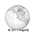 """Outline Map of the Area around 37° 42' 7"""" N, 123° 10' 30"""" W, rectangular outline"""