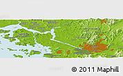 Physical Panoramic Map of Ŭijŏngbu