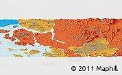 Political Panoramic Map of Ŭijŏngbu