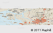 Shaded Relief Panoramic Map of Seoul