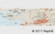 Shaded Relief Panoramic Map of Ŭijŏngbu