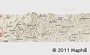 Shaded Relief Panoramic Map of Ch'unch'ŏn
