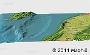Satellite Panoramic Map of Shiiya
