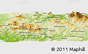 """Physical Panoramic Map of the area around 37°42'7""""N,13°40'30""""E"""