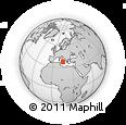 Outline Map of Mount Etna, rectangular outline