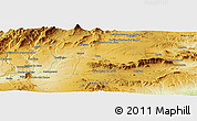 "Physical Panoramic Map of the area around 37° 42' 7"" N, 2° 28' 30"" W"