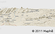 "Shaded Relief Panoramic Map of the area around 37° 42' 7"" N, 2° 28' 30"" W"