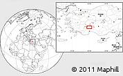 Blank Location Map of Burdur
